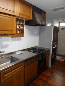 交換前コンロ、オーブン、レンジフード、食器洗い乾燥機