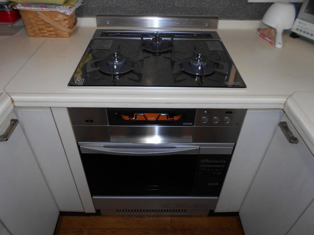 ノーリツ製ガスコンロ プログレ N3S04PWASKSTEC ノーリツ製オーブン NDR320EK