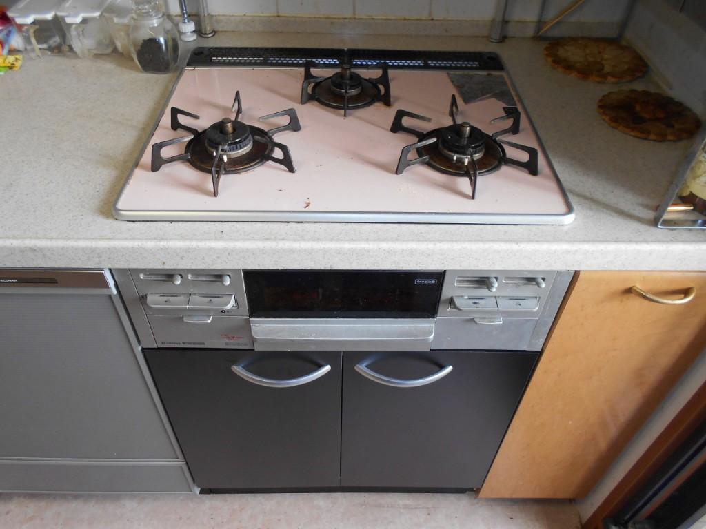 オーブン撤去・収納変更工事 UKC-605-B