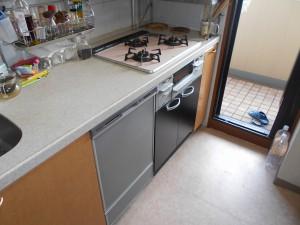 交換後器洗い乾燥機、オーブン撤去
