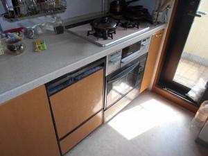 交換前食器洗い乾燥機、撤去前オーブン