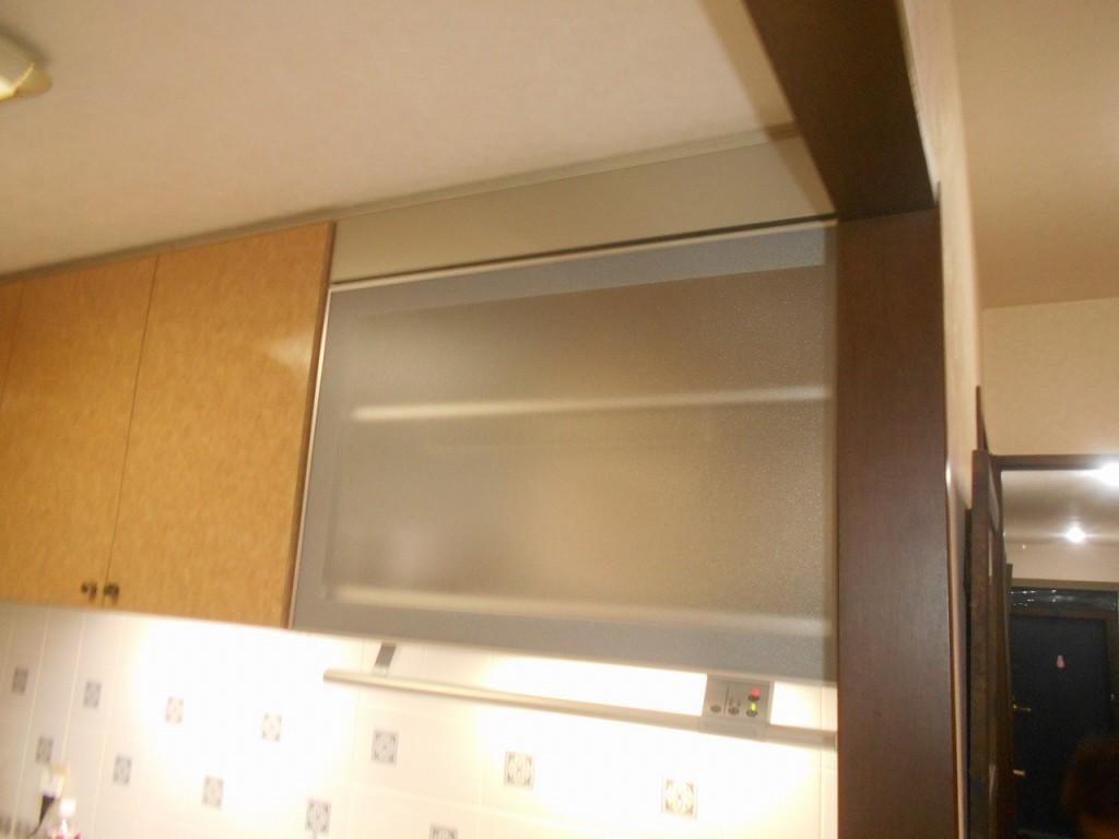 金澤工業製電動昇降吊戸棚 KEL-B090D35