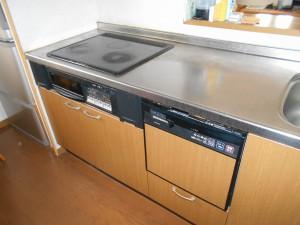 交換前IH、食器洗い乾燥機