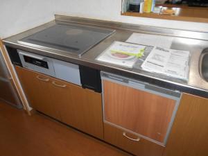 交換後IH、食器洗い乾燥器