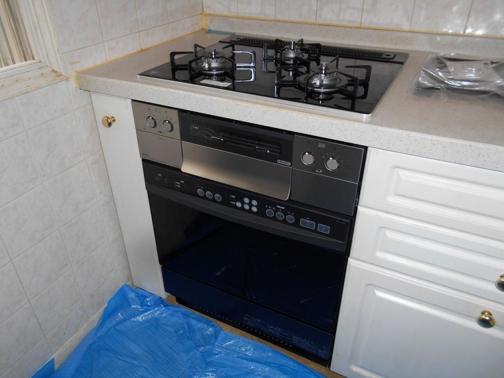 ノーリツ製ガスコンロ ピアットワイドグリル N3WR8PWASSTE オーブン NDR514E