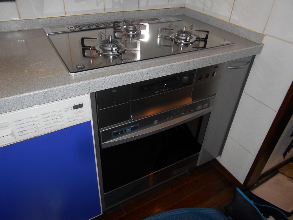 ノーリツ製ガスコンロ プログレ N3S11PWASKSTESC オーブン NDR514CST