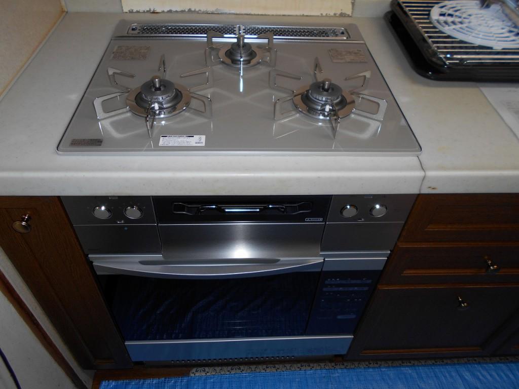 ノーリツ製ガスコンロ ピアット ワイドグリル N3WS3PWAS6STESC オーブン NDR320EK